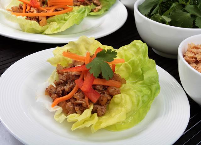 Asian-Chicken Lettuce Wraps