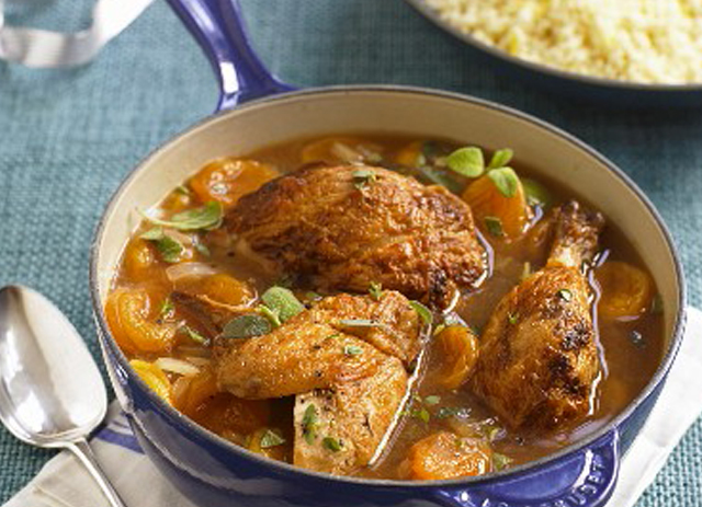 Braised Chicken with Apricots