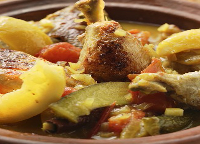 Braised Moroccan Chicken and Vegetables