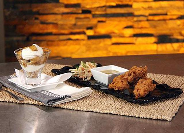 Buttermilk Fried Chicken Fingers with Clove & Honey Mustard Dipping Sauce