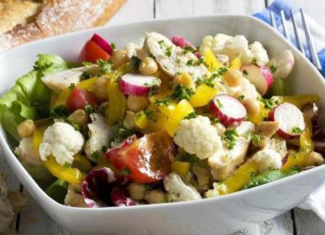 Chicken Chopped Salad with Cauliflower