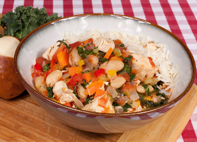 Chicken, White Beans and Kale Stew