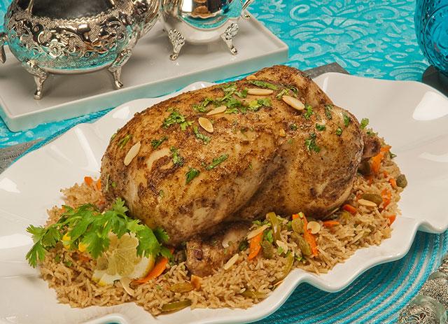 Poulet d'Arabie avec riz aromatisé