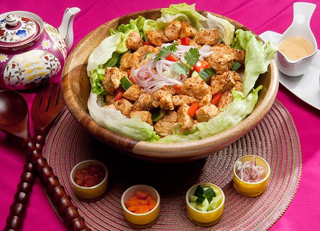 Salade de poulet tikka