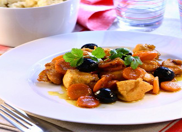 Tunisian Chicken and Olives