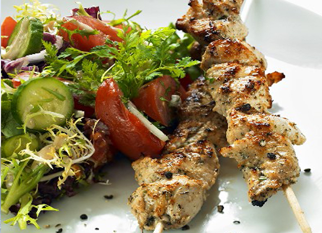 Lebanese Chicken Shish Kebabs