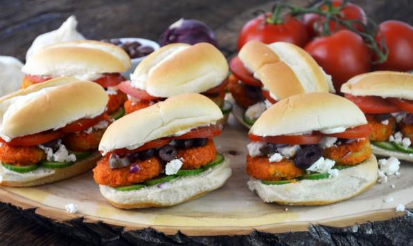 Spicy Greek Chicken Sliders