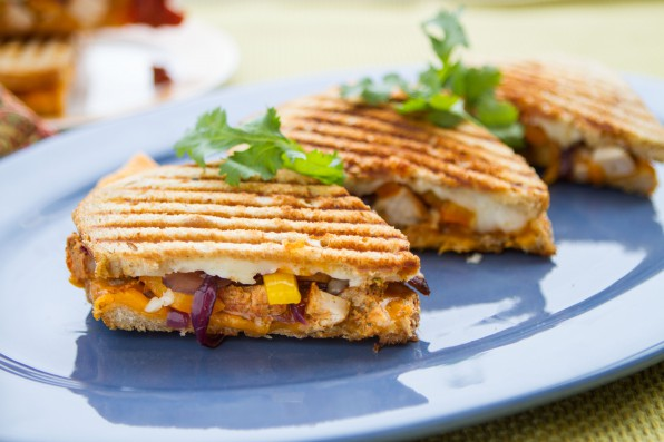 Chicken Shawarma Grilled Cheese with Spicy Indian Ketchup