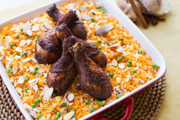 Easy Tandoori Chicken Drum Biryani Style Rice