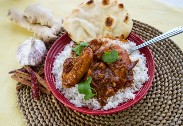 Tikka Butter Chicken with Coconut Rice and Cilantro