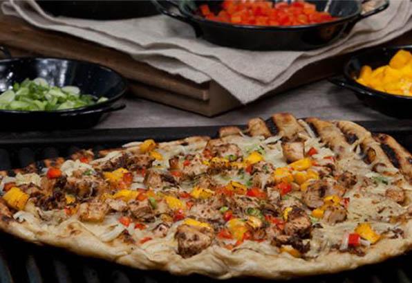BBQ Jerk Chicken Pizza