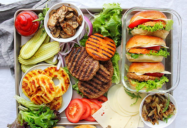 Gourmet Make Your Own Burger Station