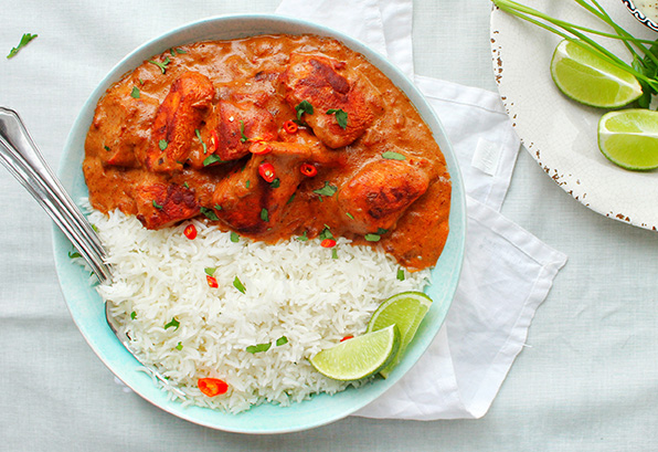 Chicken Tikka Curry with Rice