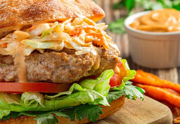 Summer Scallion and Ginger Chicken Burgers